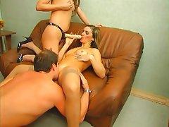 Creampie Mature Russian Strapon Threesome