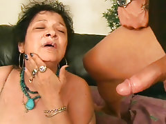 Blowjob Cumshot Mature Old and Young Granny