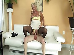 Stockings Granny Dildo Big Tits