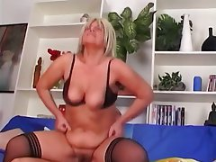 Anal Blonde Mature Stockings