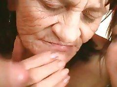 BBW Granny Mature Threesome