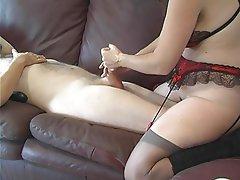 Handjob Lingerie Mature MILF Pornstar